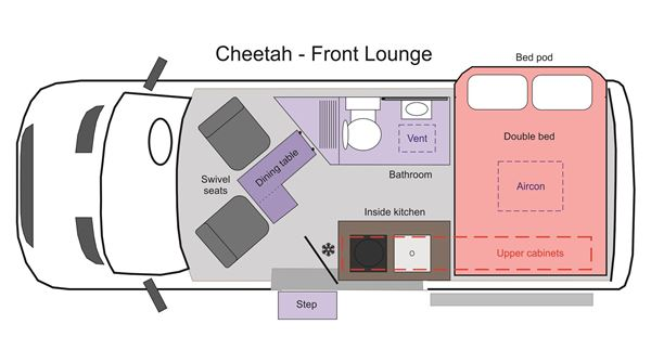 Picture of Cheetah Front Lounge Floor Plan 2