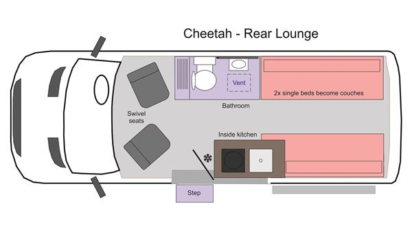 Picture of Cheetah Rear Lounge Floor Plan 2