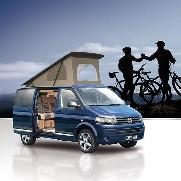Picture of Reimo T6S Camp Roof with lift in the front for VW T6 Transporter